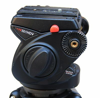 Manfrotto 501HDV Pro Video Fluid Head with arm & plate - Excellent