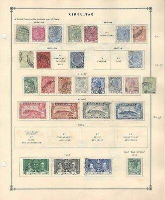 Gibraltar & Greenland Collection 1886-1938 on 2 Scott International Pages