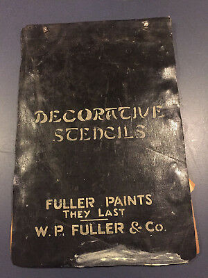 W P FULLER PAINT STENCIL CATALOG, 1920's or 30's? Very old and rare! Free Ship!