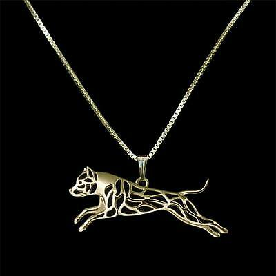 PITBULL NECKLACE -  Necklace Pitbull Dog Gold For Womens & Mens Gift Chain (y)