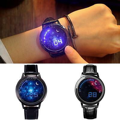 Digital LED Touch Screen Starry Moon Star Classic  Watch Women Men Couple  ED
