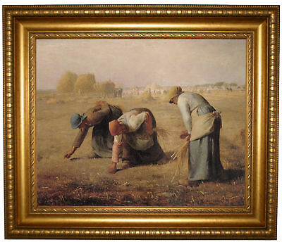 Millet The gleaners Framed Canvas Print Repro 16x20