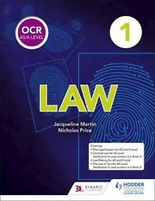 OCR AS/A Level Law Book 1 by Nicholas Price, Jacqueline Martin (Paperback, 2017)