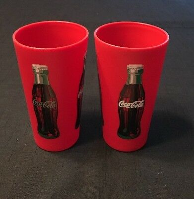 2004 Coca Cola Brand Plastic 22 Oz Drinking Cup~PackerWare Corp~Set Of 2~NOS
