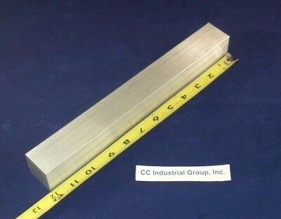 "1-1/2"" x 1-1/2"" x 12"" ALUMINUM SOLID SQUARE STOCK 6061 T6511 - NEW MILL STOCK"