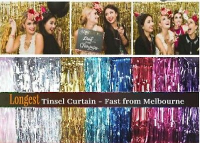 1m2m 3m Metallic Tinsel Curtain Foil Wedding Birthday Hens Party Decoration