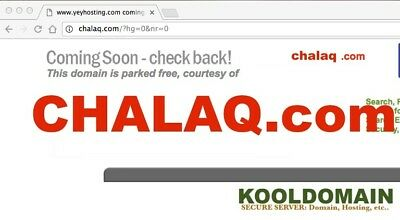 CHALAQ.COM For Sale Domain Name Only - Registered at Reseller KoolDomain.com