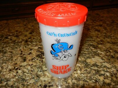 1960's Captain Crunch Cereal Ship Shake Plastic Mug Cup