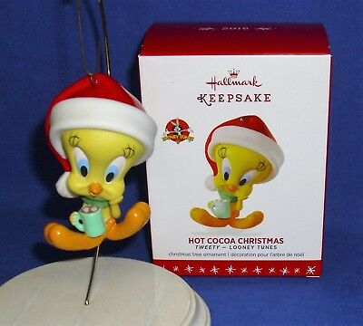 Hallmark Looney Tunes Porcelain Ornament Hot Cocoa Christmas 2016 Tweety Bird