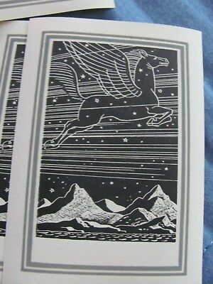 2Rockwell Kent Pegasus Book Plates Antioch Bookplate Co. 1950s - New
