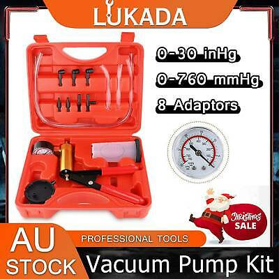 Hand Held Brake Bleeder Tester Set Bleeding Kit Vacuum Pump Car Motorbike Bleed