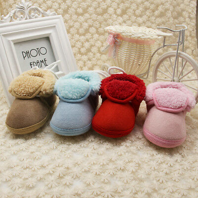 Baby Girl Infant Newborn Winter Warm Boot Toddler Infant Soft Sock Booties Shoes