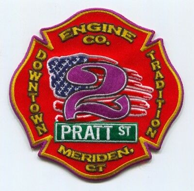 Meriden Fire Department Engine Company 2 Patch Connecticut CT SKUFC5
