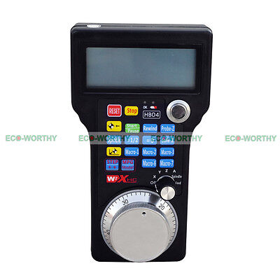 Wireless Remote Handwheel MPG Pendant USB Mach3 CNC 3/4 Axis Router System