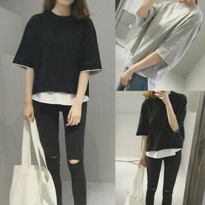 Korean Fashion Women Girls Casual Short Sleeve T Shirt Loose Blouse Tops Shirt 5 99 Picclick