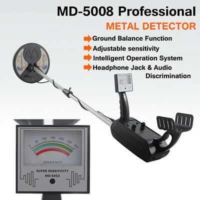 MD-5008 Metal Detector Waterproof Coils Deep Searching Treasure Hunter Target
