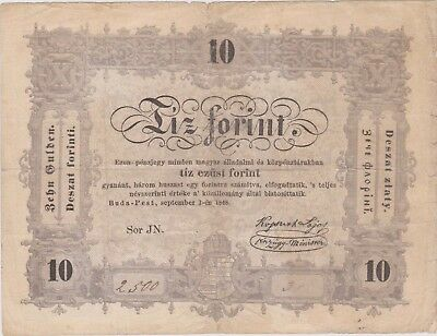 Hungary 10 forint 1848 / 10 gulden 1848, F  PS116, (262)