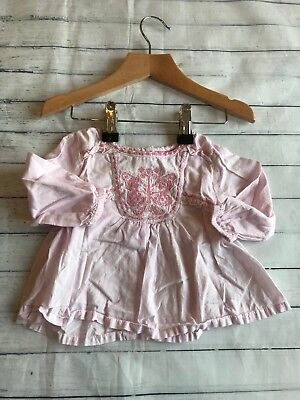 Baby Girls Clothes 0-3 Months - Pretty Monsoon Shirt  Top