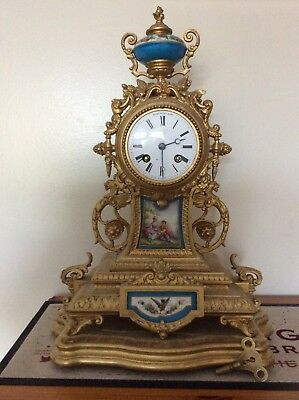 Impressive Antique French  Mantel Clock Henry Marc &Japy Freres  Med De Honneur