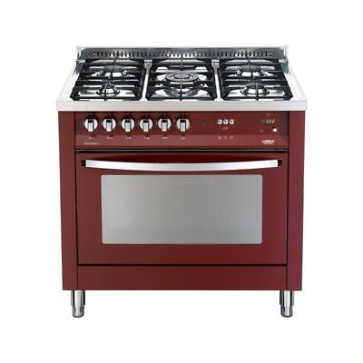 Lofra Cucina Combinata Rainbow Cookers PRG96GVT/C 90 cm Burgundy