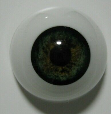 Reborn doll eyes 24mm Half Round  GREEN