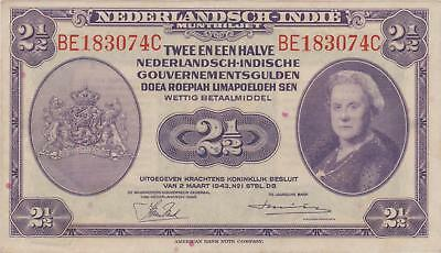 Indonesia / Netherlands Indies 2½ gulden 1943, Xf+  P112a, (278)
