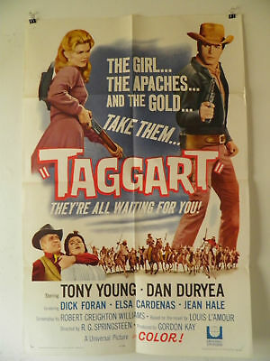 Taggart 1964 LOUIS L'AMOUR Dick Foran Dan Duryea  Movie Poster 27 by 41