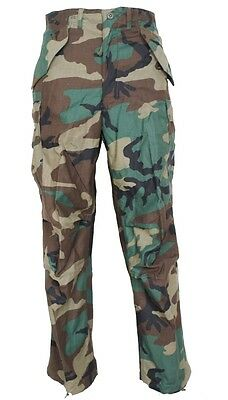 GI M65 Field Pants Woodland Camo Genuine Issue Cold Weather Trousers Used Good