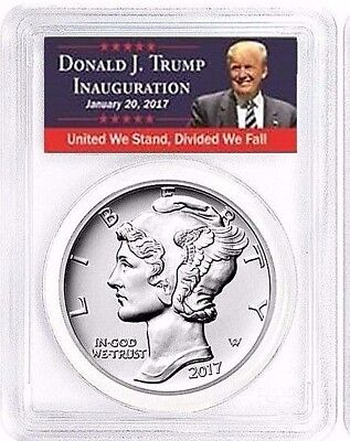 2017 (P) 1 oz Palladium Eagle $25 PCGS MS70 FDOI Struck at Philadelphia TRUMP