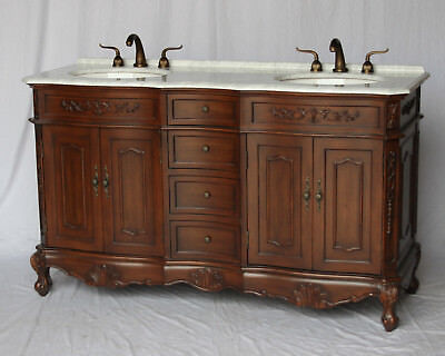 60-Inch Antique Style Double Sink Bathroom Vanity Model 1905-60CH K