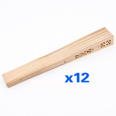 3X(Summer Folding Bamboo Wooden Carved Hand Fan Wedding Bridal Party Z7P5