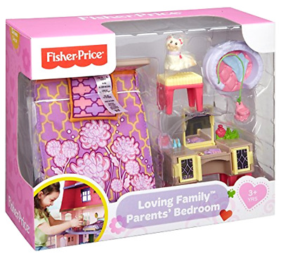 FISHER PRICE LOVING Family Parents Bedroom Dream Dollhouse Furniture ...