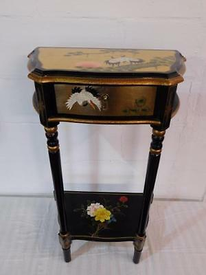 A Stunning Decorated Chinese Oriental Side Table In The Antique Manner