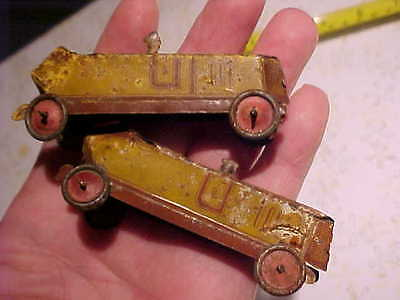Vintage Old German Germany Fischer Tin Penny Toy Boat Tail Boatail Race Car Lot