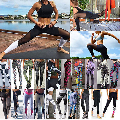 Damen Leggings Tights Sporthose Laufhose Fitness YOGA Gym Hose Jogging Leggins