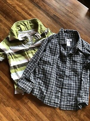 Lot of Two Button Front Shirt and Polo Old Navy 2T