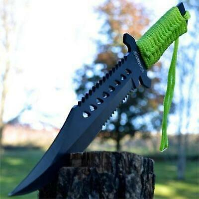 "12"" Zombie Killer Full Tang Fixed Blade Survival Knife w/ Sheath Army Bowie"