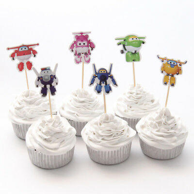 Cake Topper Figurine Figure Decoration Birthday Characters - SUPER WINGS set