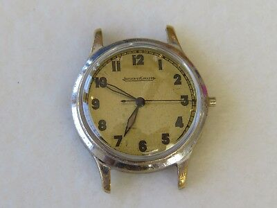 Vintage Jaeger LeCoultre Military Style Watch For Repair Restore Parts Lot of 1