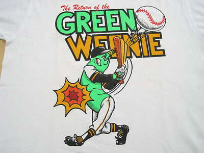 NEVER WORN!! 80s vtg THE GREEN WEENIE pittsburgh pirates T SHIRT 50/50 LARGE