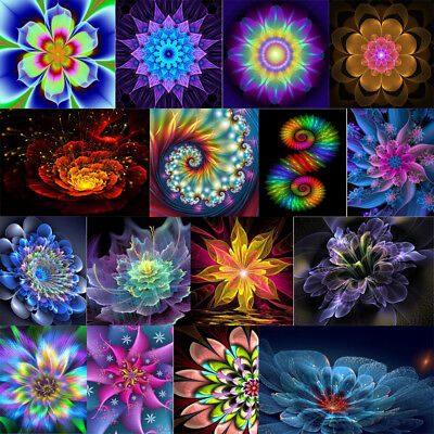 5D Diamond Painting Mandala Flower Cross Stitch Rhinestone Embroidery Home Decor