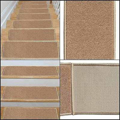 7Pc Safe Stairs Steps Cover Pad Carpet Non Skid Treads Rubber Backing Mat  Rug