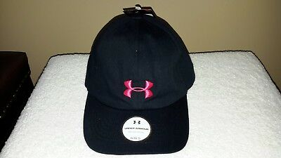 Under Armour Girls'  Curved Brim Black Baseball Cap/Hat,  MSRP  $19.99