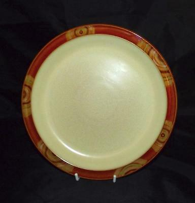 Denby Pottery Fire and Chilli Design Salad Plate 22.5cm Dia with Patterned Rim