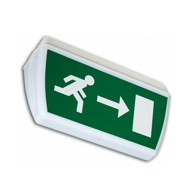Double-Sided Ceiling-Mounted 8W IP65 Fire Exit Sign - Tiel TI8