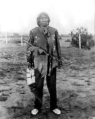 1898 Photo Lakota Chief Red Cloud Age 77 Was Most Capable US Army Opponent