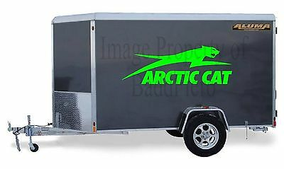 TWO CUSTOM ARCTIC CAT HUGE VINYL DECALS 60x21 TRAILER SNOWMOBILE STICKERS NEW