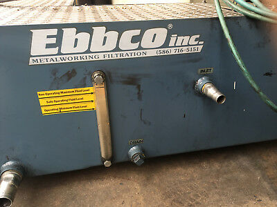 Anca FastGrind Ebbco Filtration and Coolant Unit (2013)