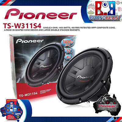 """Pioneer Champion Series TS-W311S4 12"""" Subwoofer 1400w Max 400w RMS  Svc TSW311S4"""