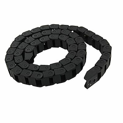 Black Plastic Drag Chain Cable Carrier 10 x 15mm R38 for CNC Router Mill